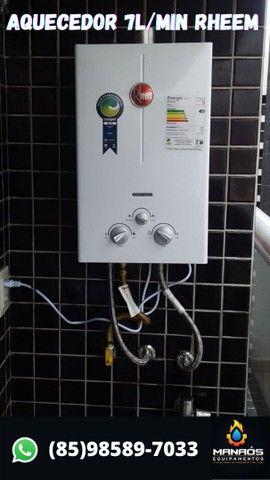 Aquecedor de água a gás 7L/min - Rheem - Foto 2