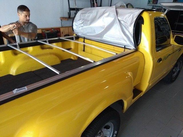 Capota Matitima  Amarok S10 Ranger Frontier Hilux  Saveiro Strada Montana instalada. - Foto 17
