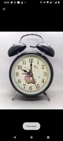 Relógio despertador retro super lindo e alto grande promoção - Foto 2