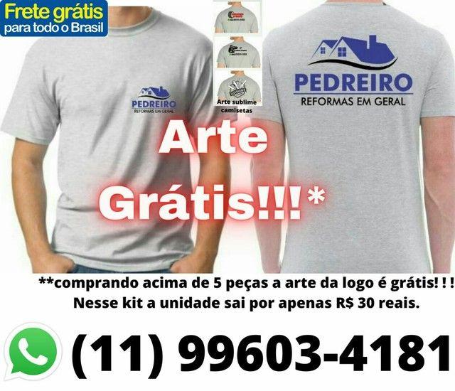 Camiseta para empresa fazemos a logo grátis