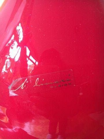 Vaso decorativo em vidro vermelho - Foto 3