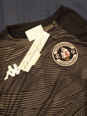 Camisa Kappa Personalizada Vasco Tormenta - Preto