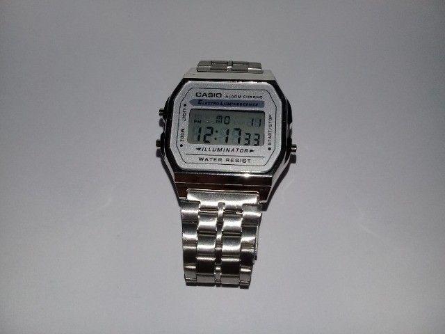 Relógio Casio-illuminator-prata-unissex-promocional - Foto 6