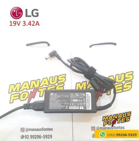 Fonte Notebook LG 19V 3.42A Ponta Padrão Novo c/ Garantia