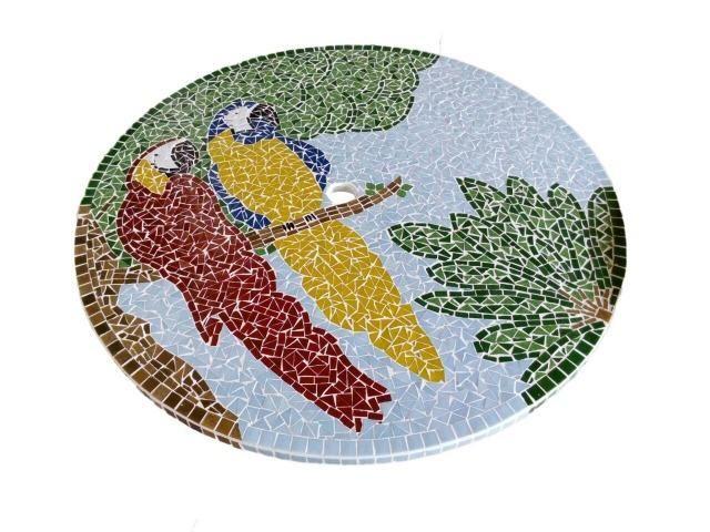Passarinho, arara, borboleta, jardim, flor, planta mosaico - Foto 6