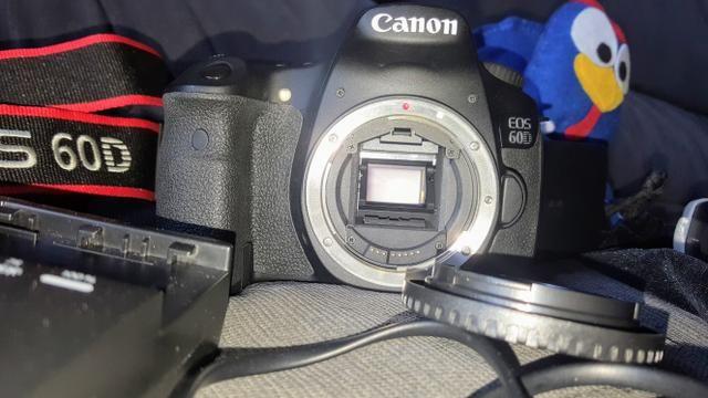 Canon Eos 60d C/ 3k Cliques. Raridade. Ótimo Estado. Bônus! - Foto 5