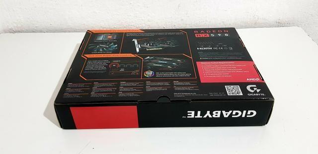 Placa de Vídeo Gigabyte AMD Radeon RX 590 Gaming 8G, GDDR5 versão 2.0 ( nova ) - Foto 5