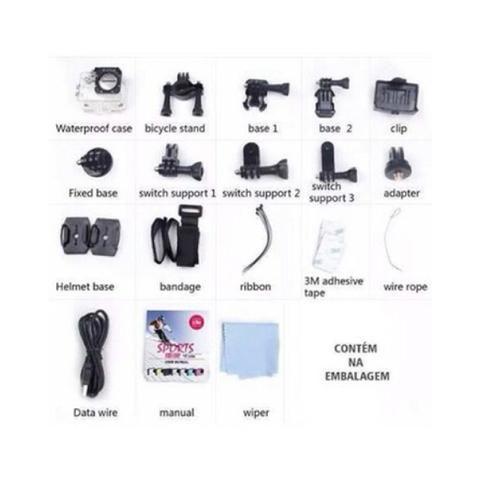Câmera de Ação 4K Sports Ultra HD DV com pacote de acessórios!! - Foto 6