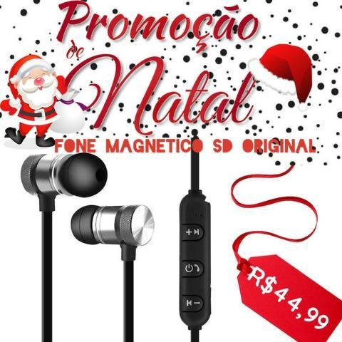 Fone De Ouvido Magnetico Altomex Sd Original Bluetooth Android iOS Música