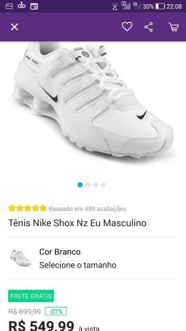 4022e2c9b6 Nike shox nz Eu - Roupas e calçados - Parque São Luís