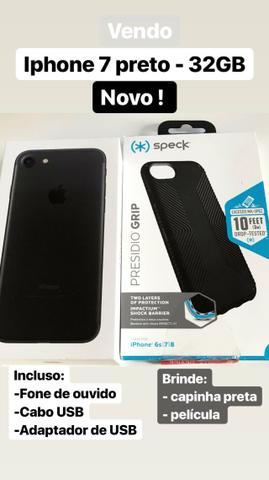 Iphone 7 Preto - 32 GB - Novo