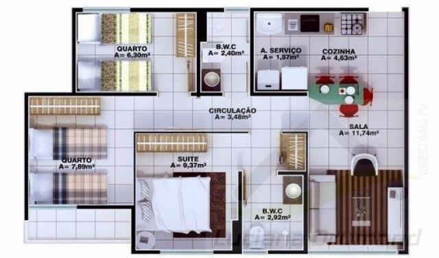 Apartamento Zona Sudeste, 3 qts, 1suíte. Entrega 2020 - Foto 5