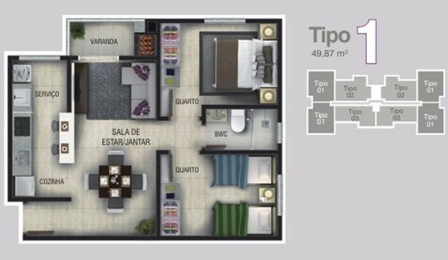 Apartamento Anita Garibaldi, IR4042 - Foto 2