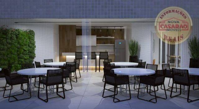 Apartamento com 2 dormitórios à venda, 72 m² por R$ 362.373 - Cidade Ocian - Praia Grande/ - Foto 11