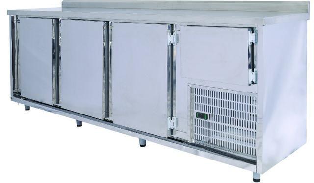 %% 2,40m Balcão Para Cozinha Refrigerado, Balcão de Serviço 2,40 - Marcos 51 9  *