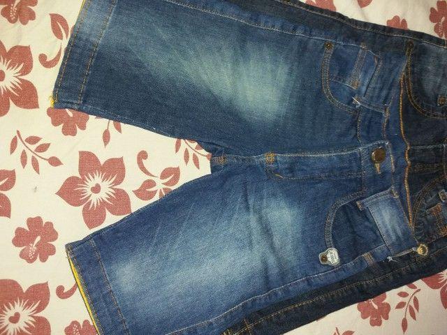 Bermuda jeans infantil masculina  - Foto 2