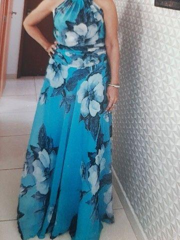 Vestido de festa usado pela mãe de noivo
