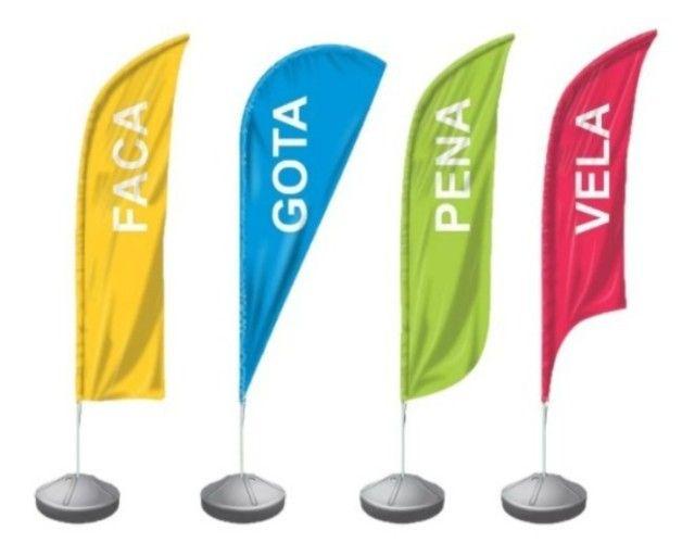 Wind Banner - Big Flag - O melhor para Anunciar seu negocio - Foto 4