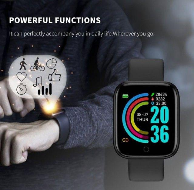 Smartwatch com notificações de mensagem e monitor de exercícios - Foto 4