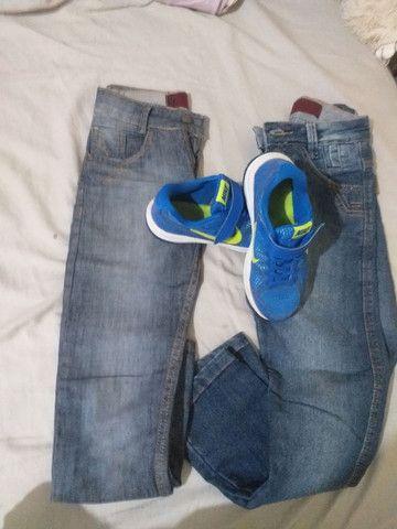 Calça jeans infantil + tênis  - Foto 6