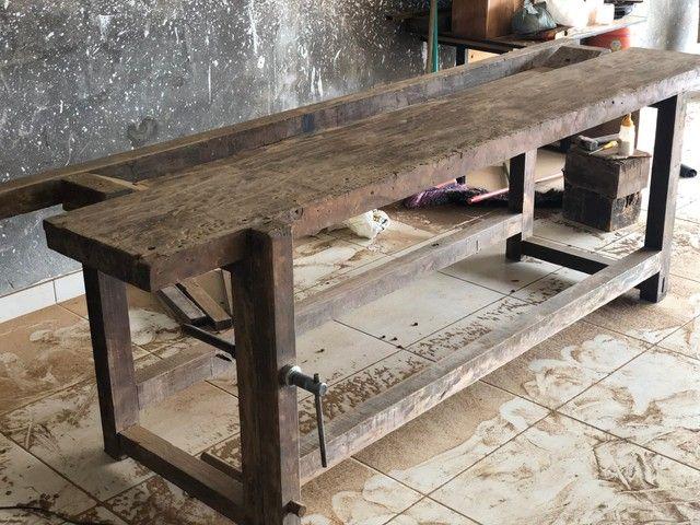 Bancada de marceneiro em Ipê - Foto 4