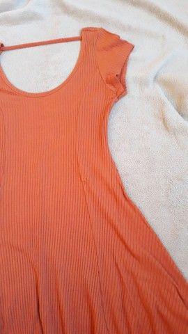 Vestido de malha canelada ,tam. M Dress to  - Foto 4