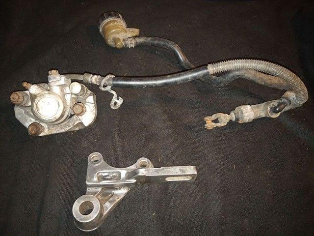 Kit sistema de freio traseiro original xt 600. perfeito só instalar