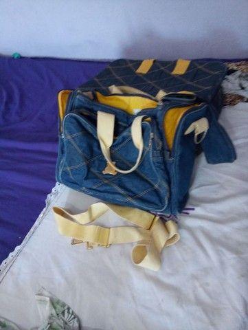 Bolsa para bebê jeans - Foto 2