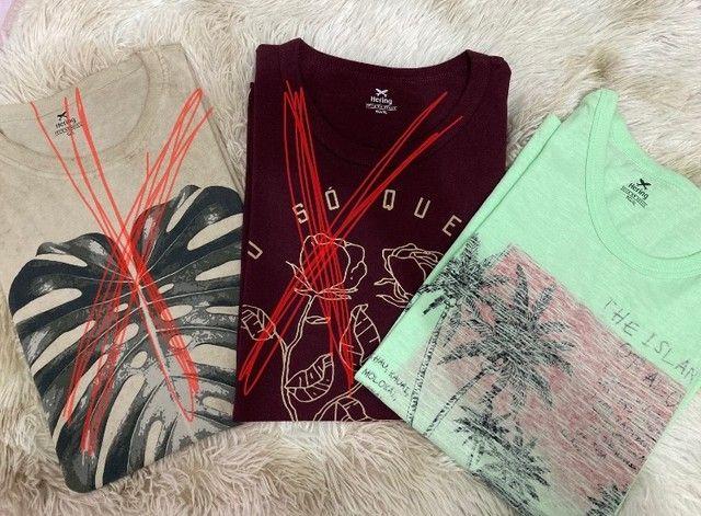 Lote de Camisas de Marca Usadas - TAM G - Foto 2