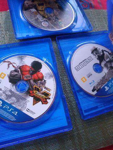 Jogos de PS4 novos Fifa star wars street fighter - Foto 2