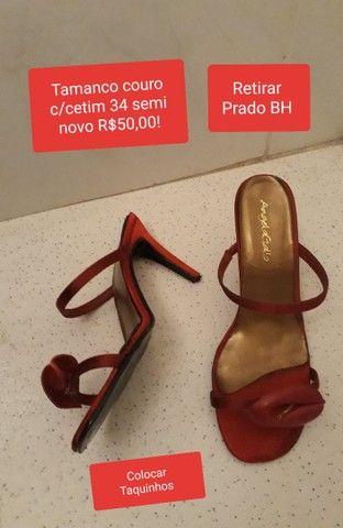 Sapatos couro semi novos 34 - Foto 3