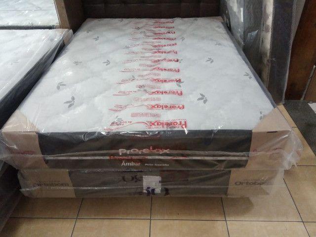 Cama Box casal D-33 molas ensacadas - Foto 3