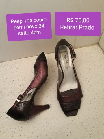 Sapatos couro semi novos 34 - Foto 4