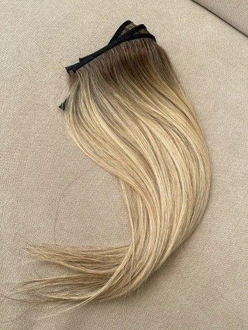 Mega hair loiro na micro emborrachada 3 telas - Foto 3
