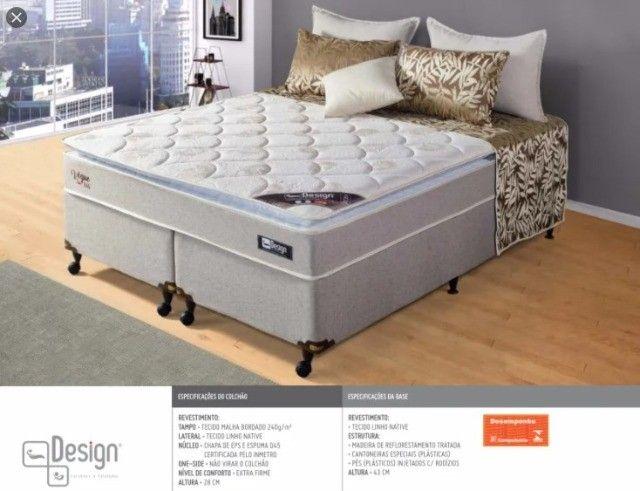Cama Box Queen Vogue D45 com Pillow -77cm Altura - Foto 3