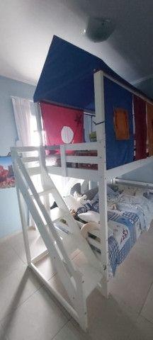 Beliche Infantil com Telhado/Escada/ Escorregador Casa Tema