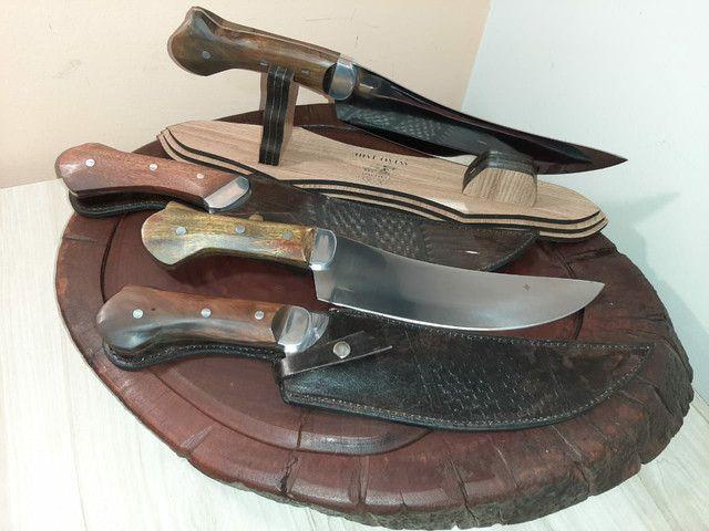Facas para churrasco artesanal aço inox  - Foto 3