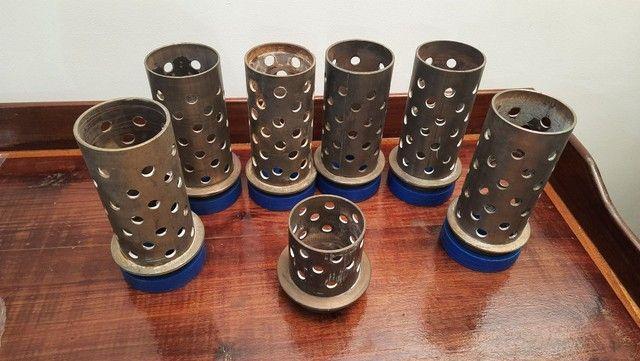 """Tubos de aço inox para fundição 3"""" X 18cm - Foto 6"""
