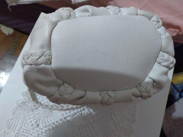 Bolsa em couro branca - Foto 5