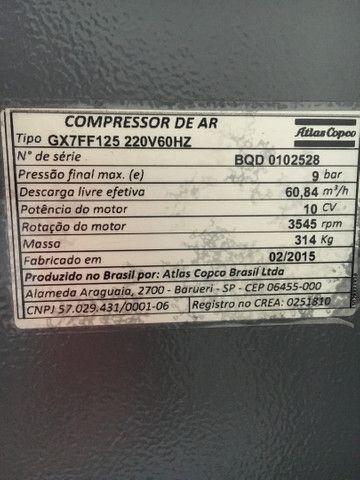 Compressor atlas copco GX7ff com 3684 horas  - Foto 5