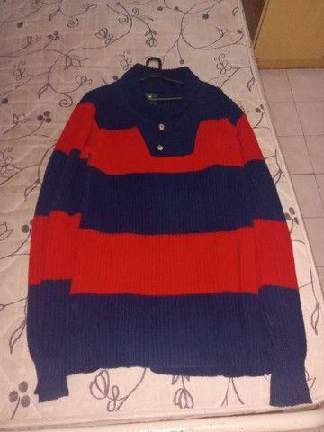 Blusão Masculino Grosso Polo Tam M - Foto 3