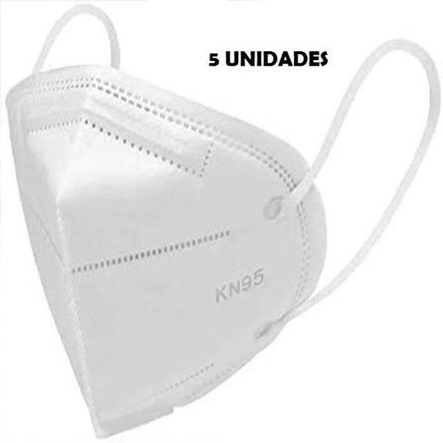 Máscaras Pff2 N95 Ksn Proteção Anvisa Inmetro Hospitalar Única Recomendada 5 Unidades