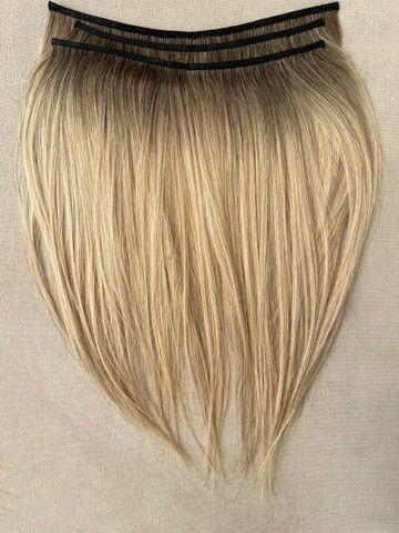 Mega hair loiro na micro emborrachada 3 telas - Foto 4