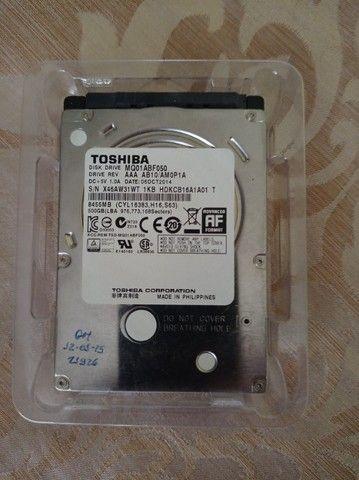 HD Toshiba 500Gb compatível com Notebook - Foto 2