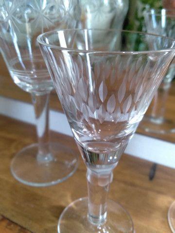 Taças antiguidade licor lindas - Foto 6