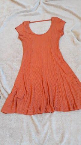 Vestido de malha canelada ,tam. M Dress to  - Foto 5