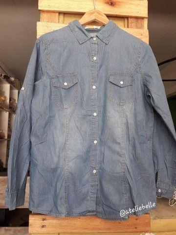 Blusa feminina  jeans  - Foto 2