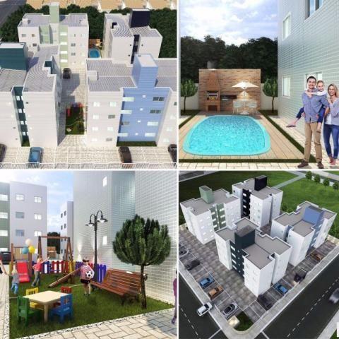 Apartamento com piscina, Churrasqueira e Playground, com toda documentação inclusa