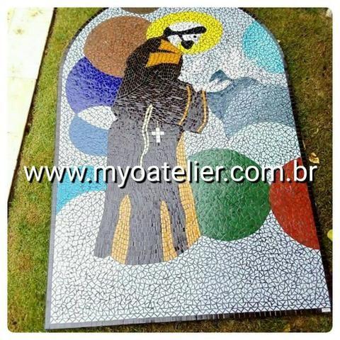 Reiki, São Francisco, São Paulo, futebol, quadro, relevo, 3d, picassiette, mosaico - Foto 6