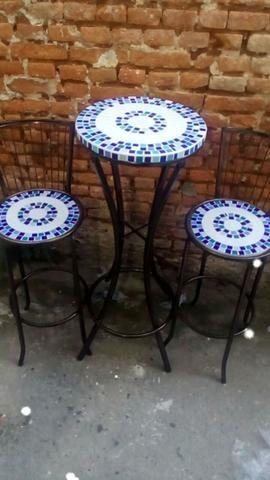 Conjunto mesa bistro mosaico sob medida - Foto 4